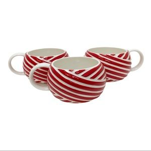 Limited edition Starbucks 2013 Red white Mugs x3